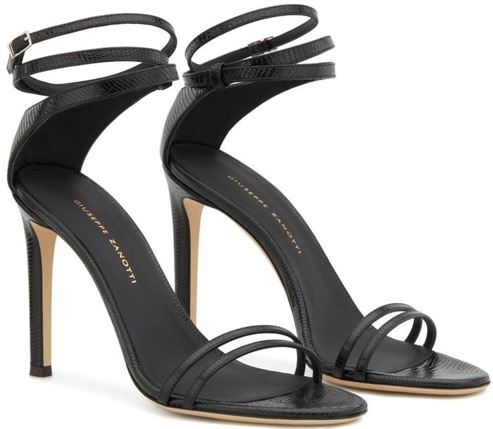 Black Snake-Print Giuseppe Zanotti Catia Sandals