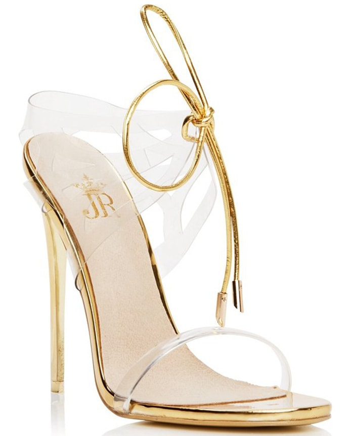 Gold Metallic Jessica Rich 'Expensive' Sandals