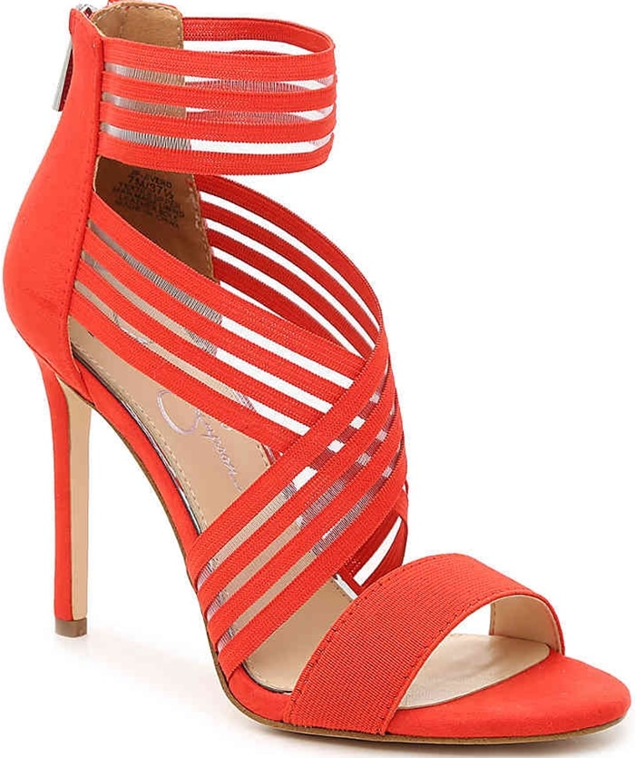Broad mesh straps and a stunning color bring life to the Jivero sandal from Jessica Simpson