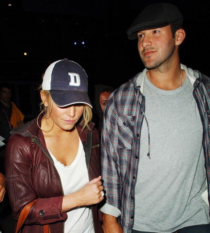 Jessica Simpson and boyfriend Tony Romo