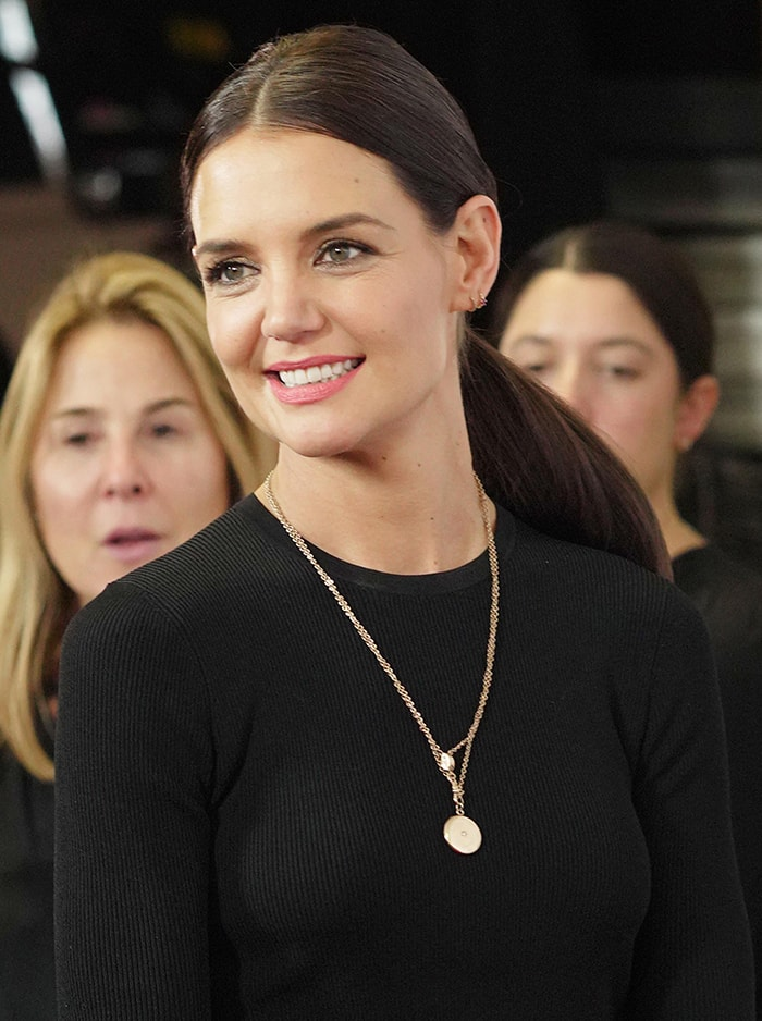 Katie Holmes was all smiles as she arrived at iHeartRadio's Z100 Jingle Ball 2019 on December 13, 2019