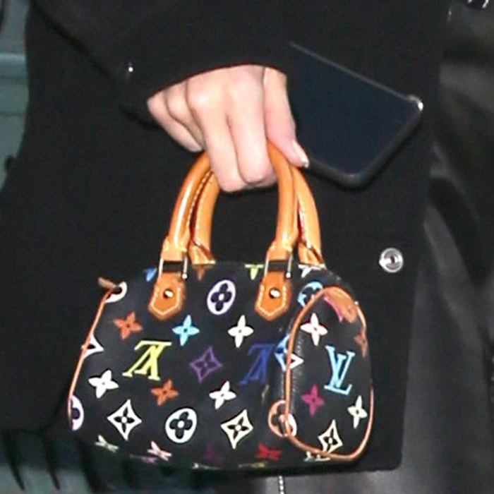 Kendall Jenner's bag from Louis Vuitton's Takashi Murakami Collection