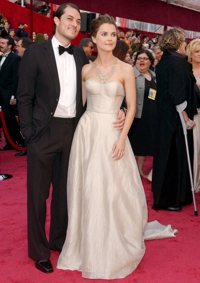 Keri Russell and her husband Shane Deary at the 80th Annual Academy Awards
