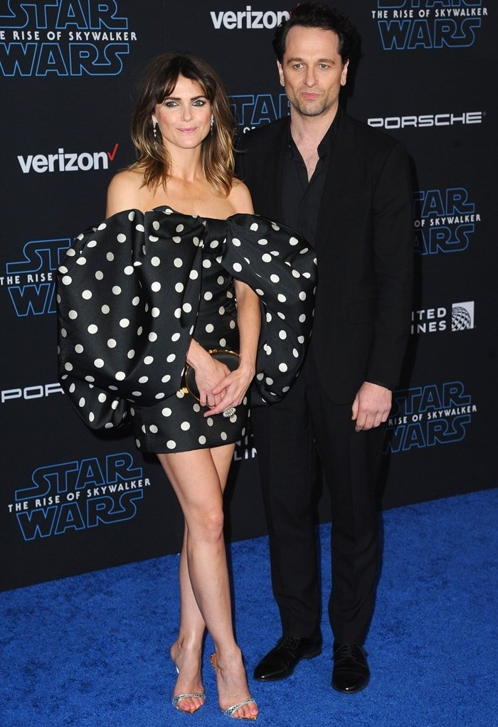 Keri Russell and her boyfriend Matthew Rhys at the premiere of Star Wars: The Rise of Skywalker in Hollywood