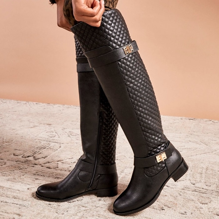 Keswick Quilted Buckle Riding Boot