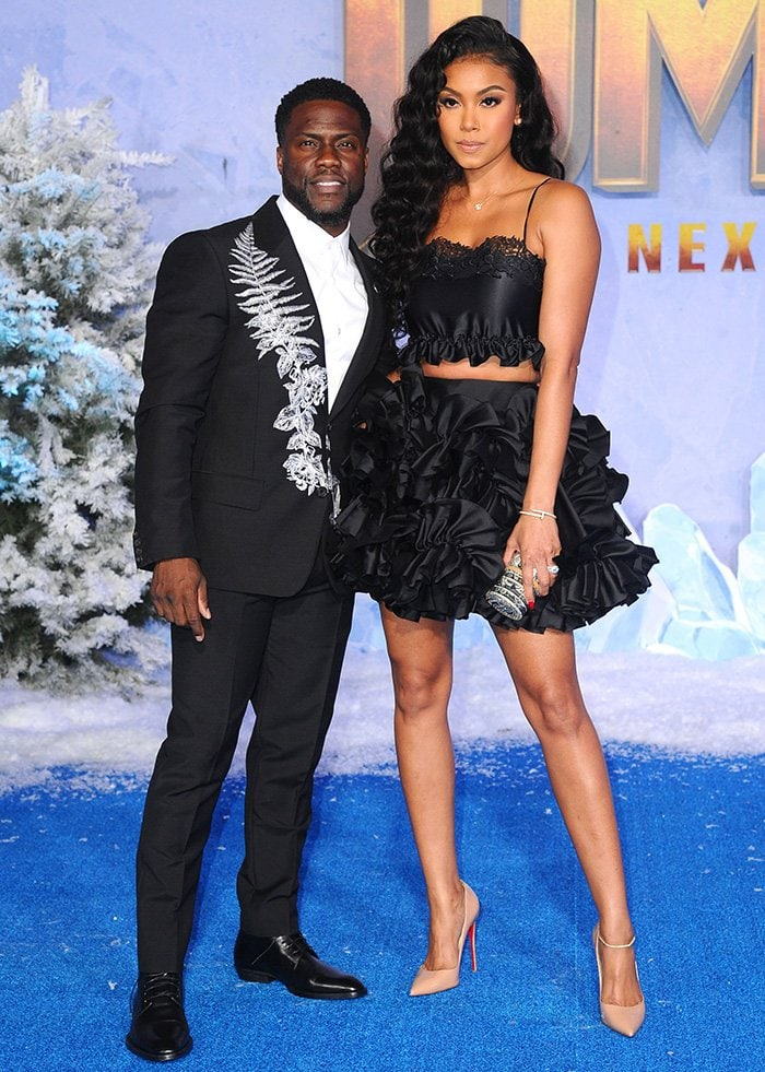 Kevin Hart and Eniko Parrish at the Los Angeles premiere of Jumanji: The Next Level held at The TCL Chinese Theatre on December 9, 2019