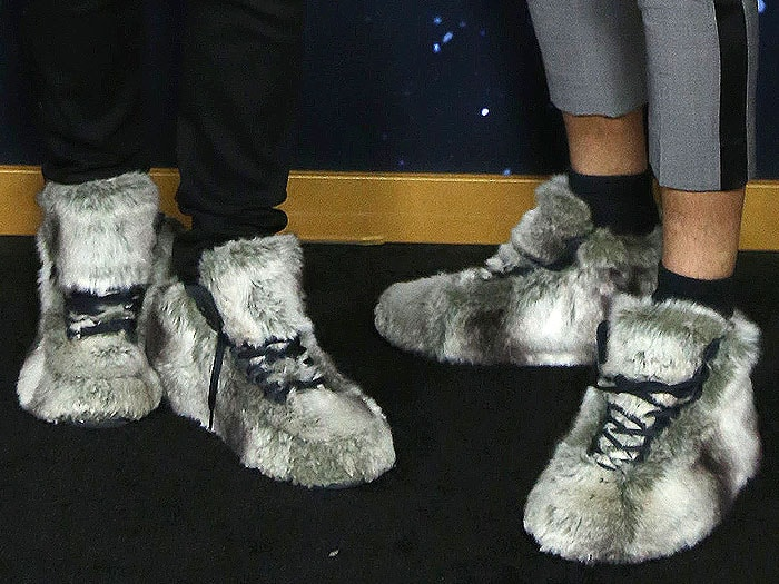 Fur sneakers as worn by Les Twins