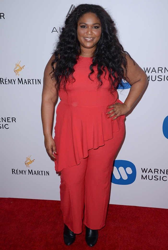Lizzo at Warner Music Group's celebration of the 59th annual Grammy Awards on February 13, 2017