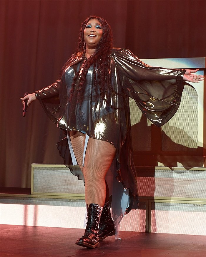 Lizzo performs during Cuz I Love You Tour at the Filmore in Miami on September 11, 2019