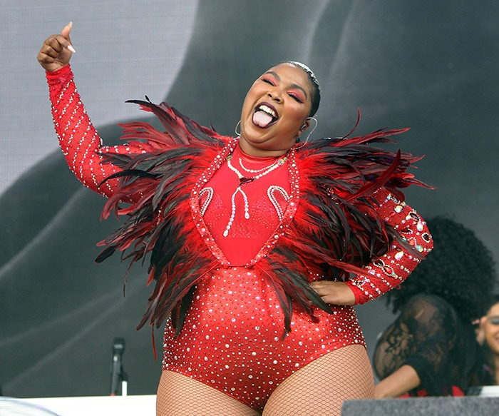 Lizzo performs on day 2 of Lovebox Festival at Gunnersbury Park in London on July 13, 2019