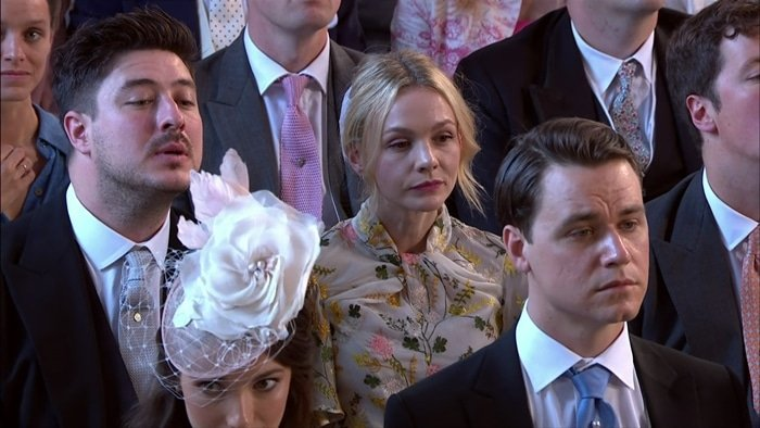Marcus Mumford and his wife Carey Mulligan attend the wedding of Prince Harry and Meghan Markle