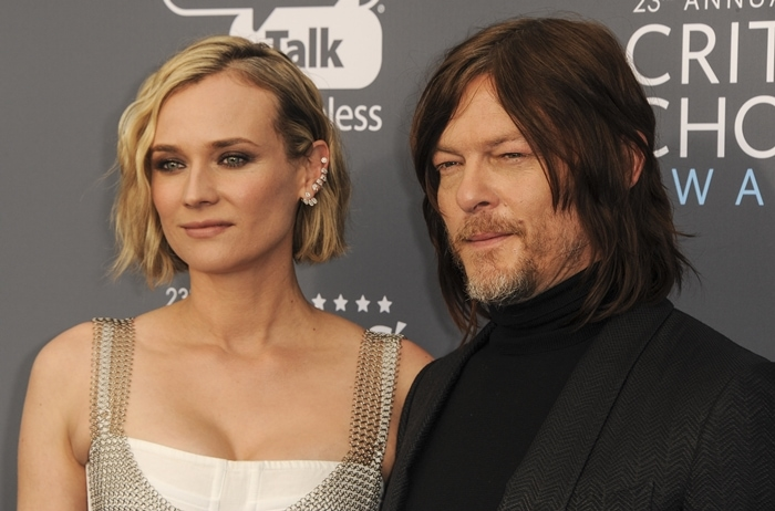 Diane Kruger and Norman Reedus arrive at the 23rd Annual Critics' Choice Awards