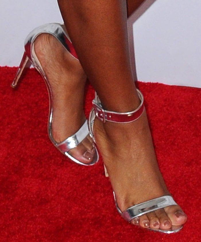 Normani shows off her sexy feet in Giuseppe Zanotti sandals