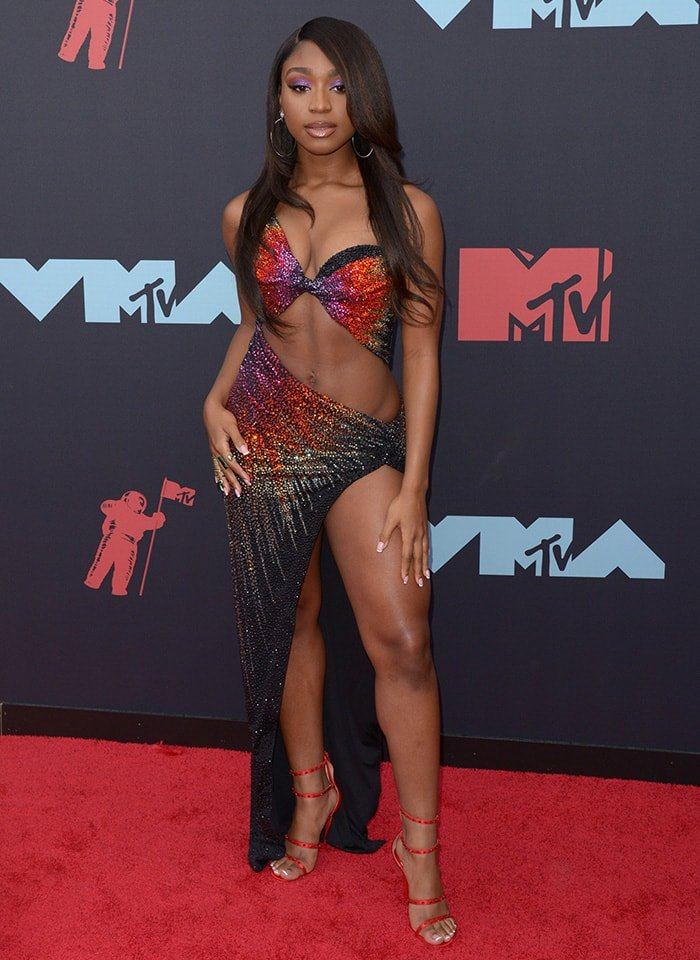 Normani at the 2019 MTV Video Music Awards held at Prudential Center in New York City on August 26, 2019