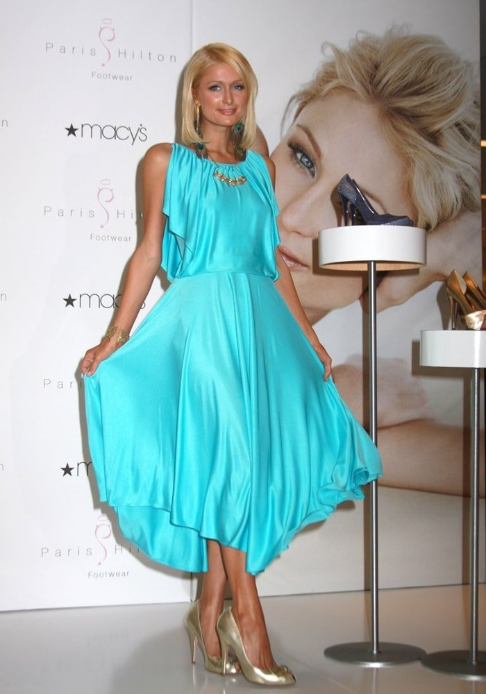 Paris Hilton promotes her footwear line at Macy's