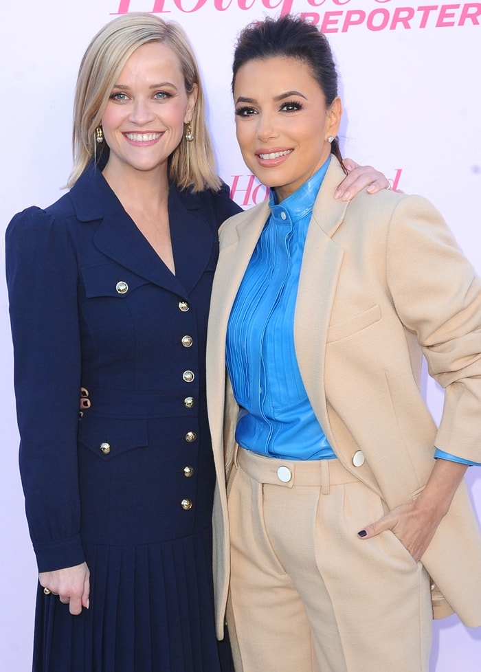 Reese Witherspoon was also joined by her friend Eva Longoria, who wore a Victoria Beckham Resort 2020 look