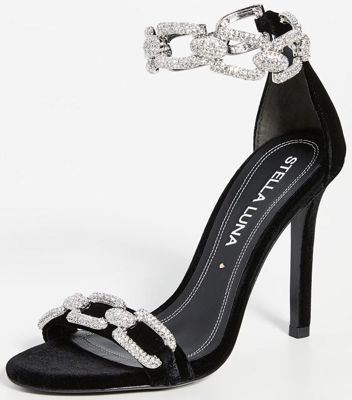 Stella Luna Strass Chain Sandals