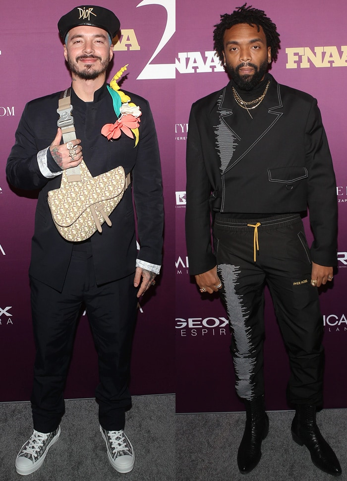 Style Influencer of the Year J Balvin and Person of the Year Kerby Jean-Raymond at the 2019 Footwear News Achievement Awards at the IAC Building in New York City on December 3, 2019