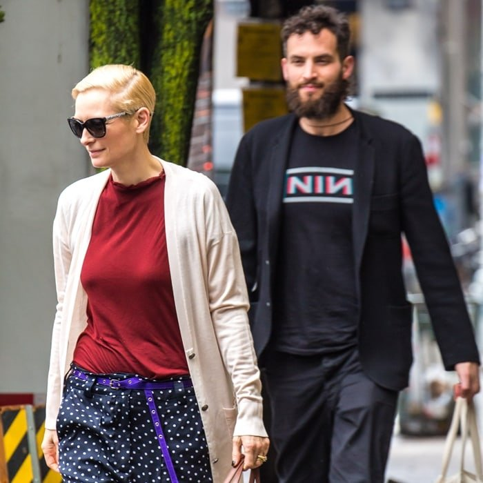 Often believed to be gay or transgender, Tilda Swinton is dating her much younger boyfriend Sandro Kopp