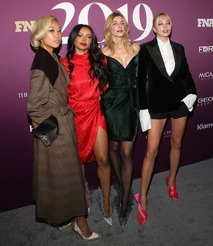 Vanessa Hong, Kat Graham, Ada Kokosar, and Caroline Vreeland at the 2019 Footwear News Achievement Awards