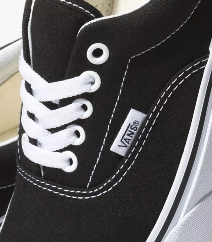 Vans shoes have neatly painted eyelets