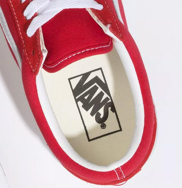 Vans trademark printed on the insole