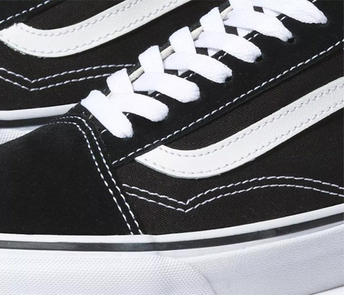 Vans sneakers' straight and even stitching