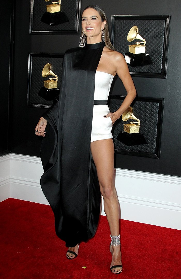 Alessandra Ambrosio at the 2020 Grammy Awards held at Los Angeles Staples Center on January 26, 2020