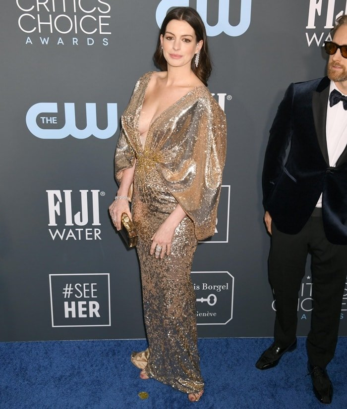 Anne Hathaway was joined by her husband Adam Shulman at the 2020 Critics' Choice Awards