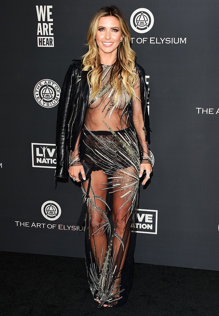 Audrina Patridge leaves very little to the imagination in see-through Steven Khalil gown