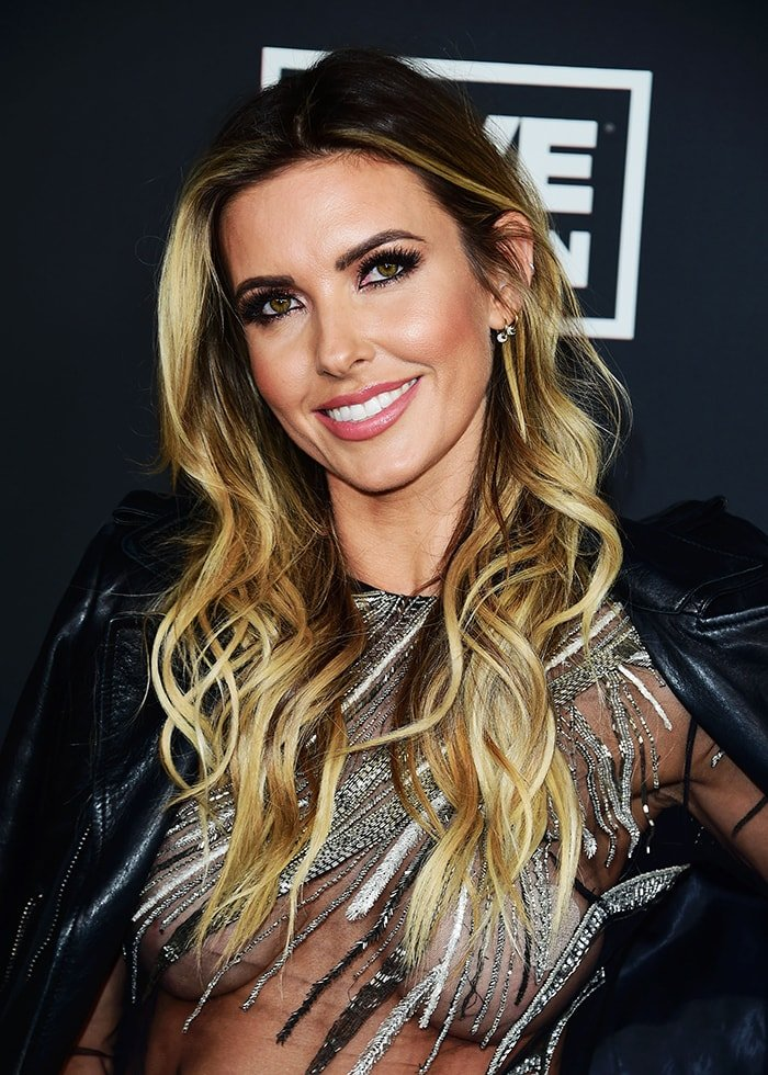 Audrina Patridge shows a busty display in her sheer gown