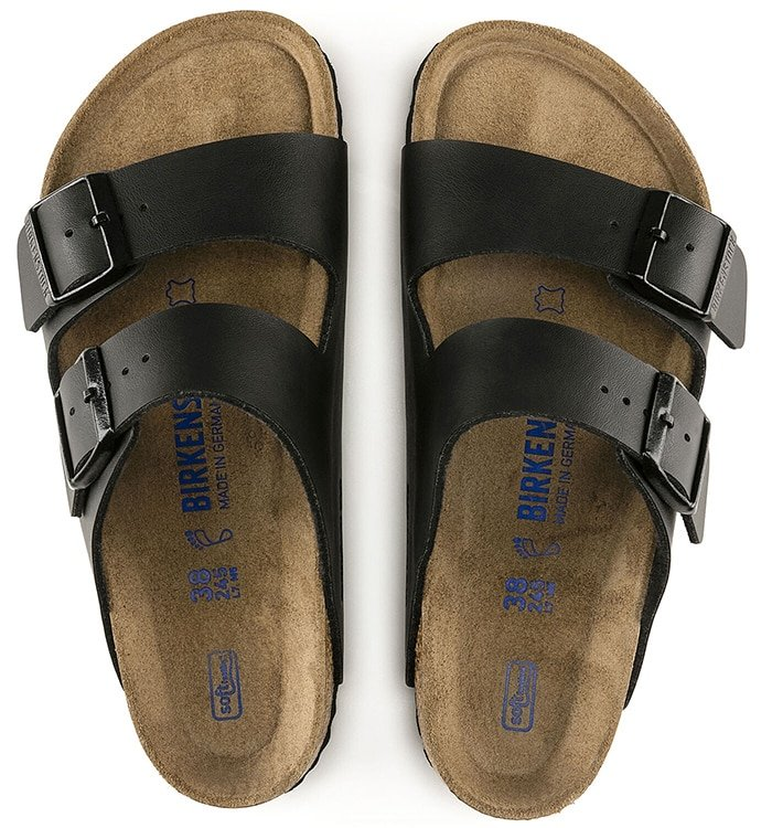 Imprints on Soft Footbed versions are done in blue