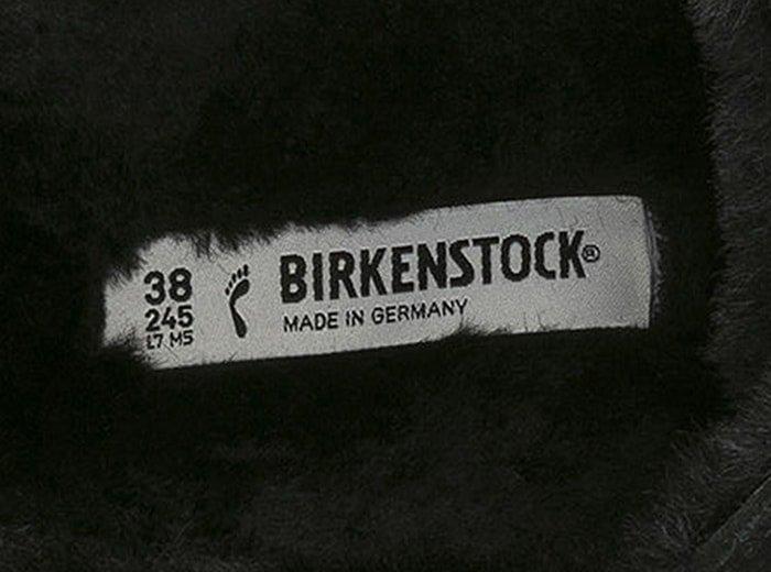 Footbed of a fur-lined Birkenstock sandal