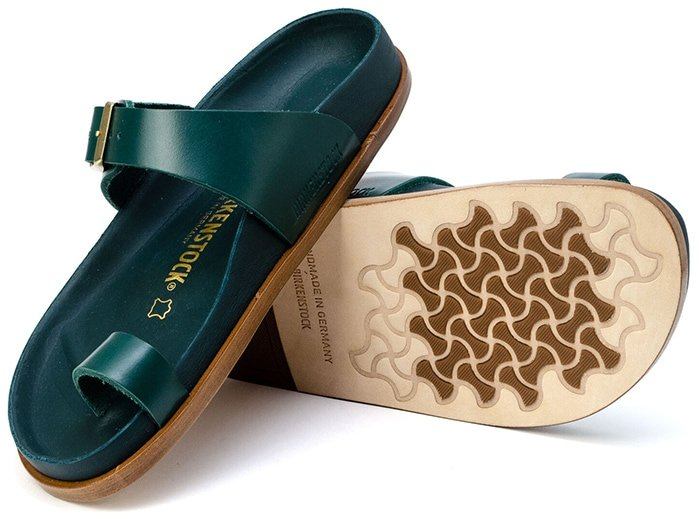 Footbeds on limited edition and high-end Birks look different but have the same hourglass pattern