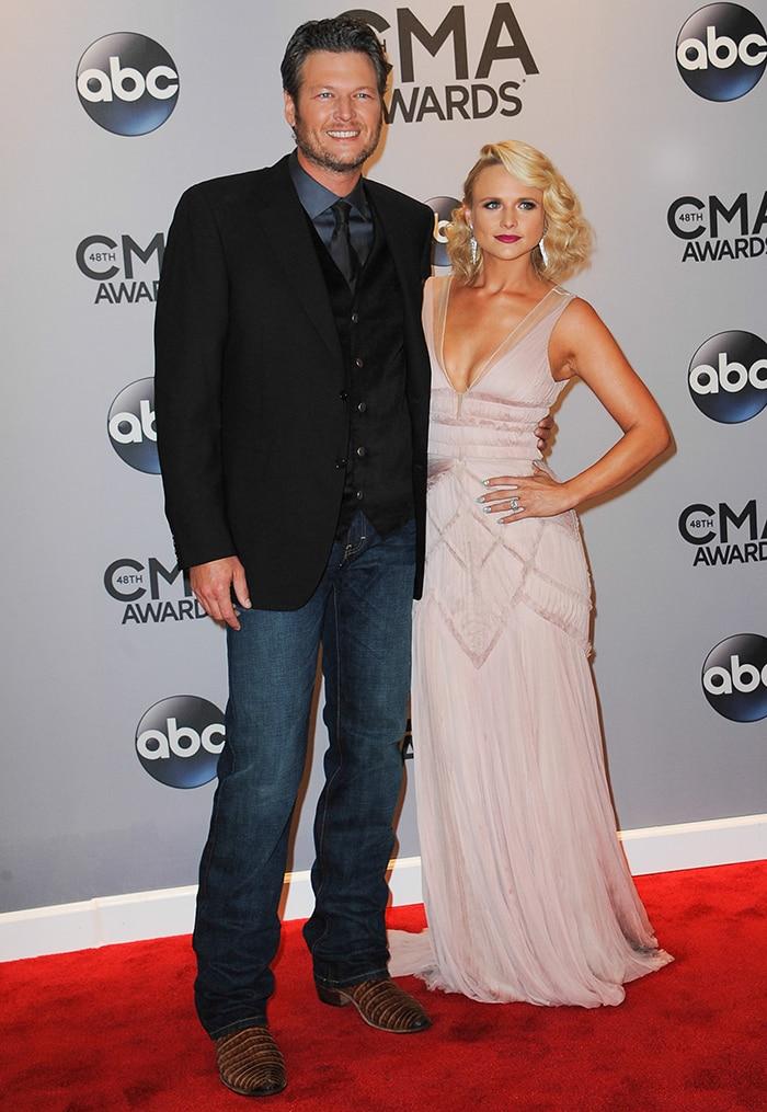 Blake Shelton and ex-wife Miranda Lambert 48th Annual CMA Awards on November 5, 2014