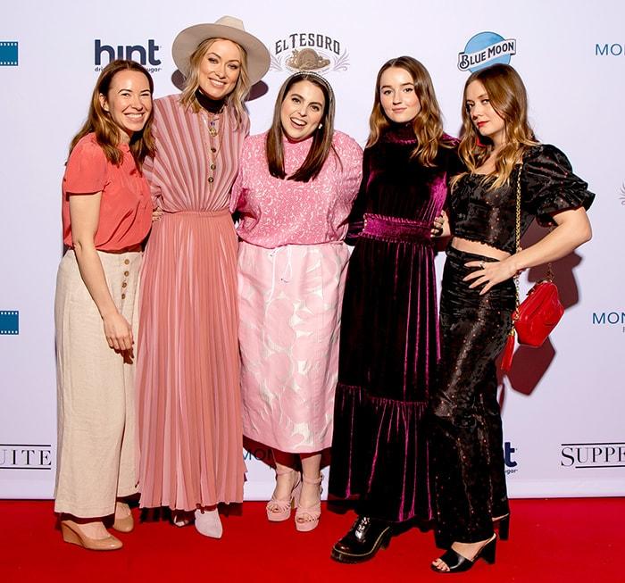 Katie Silberman Britain, Olivia Wilde, Beanie Feldstein, Kaitlyn Dever, and Billie Lourd at the2019 SXSW Film Festival on March 9, 2019