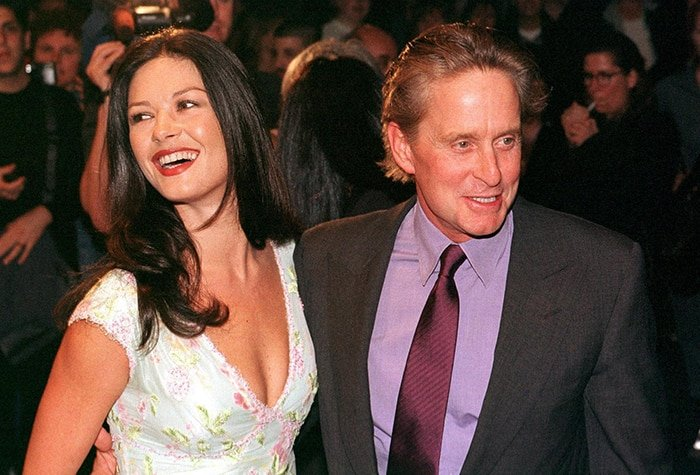 Catherine Zeta-Jones and Michael Douglas at the Double Jeopardy New York premiere on September 23, 1999