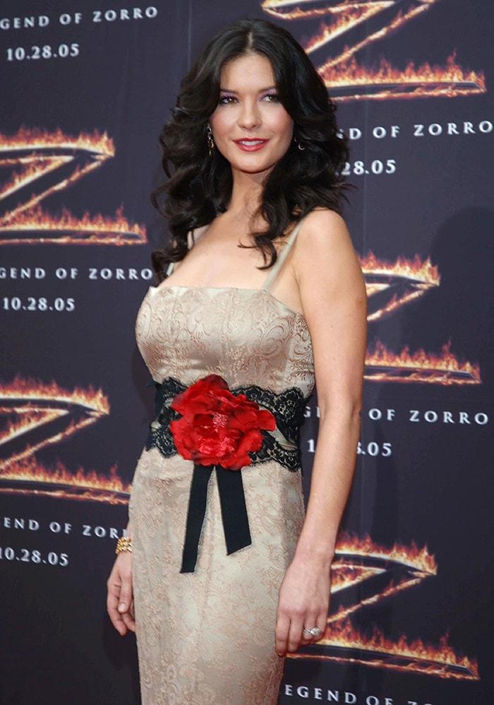 Catherine Zeta-Jones atThe Legend Of Zorro Los Angeles Premiere on October 16, 2005