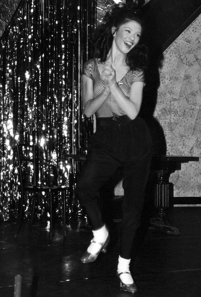 Catherine Zeta-Jones on stage in 1990 before she became famous