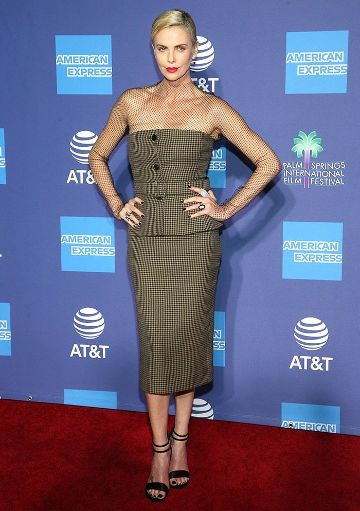 Charlize Theron at the 2020 Palm Springs International Film Festival Film Awards Gala held at the Palm Springs Convention Center in California on January 2, 2020