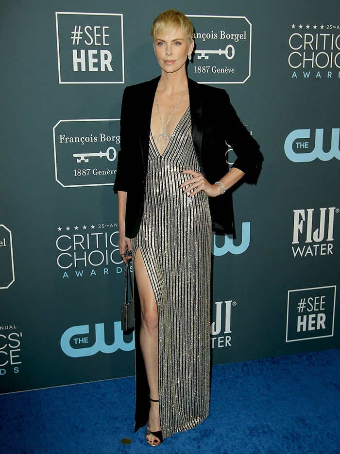 Charlize Theron at the 25th Annual Critics' Choice Awards in California on January 12, 2020