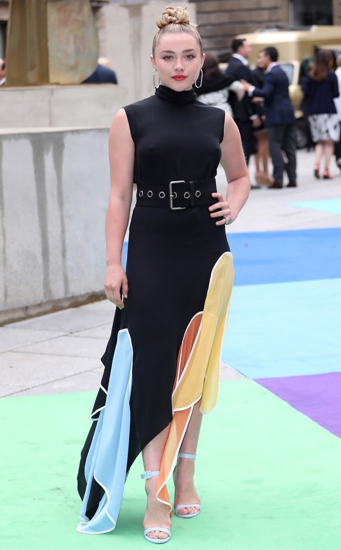 Florence Pugh attends the Royal Academy of Arts Summer exhibition preview at Royal Academy of Arts