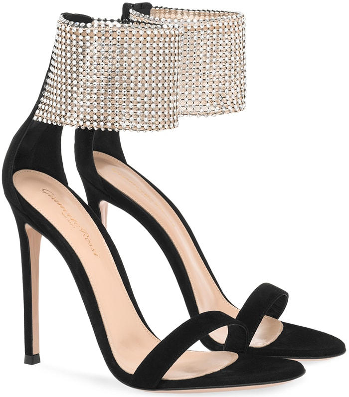 Let the Adore sandals from Gianvito Rossi carry you into an unforgettable night and turn heads along the way