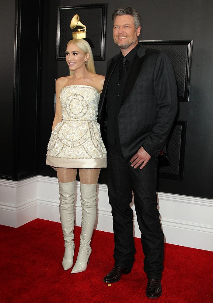 Gwen Stefani and Blake Shelton at the 62nd Annual Grammy Awards on January 26, 2020