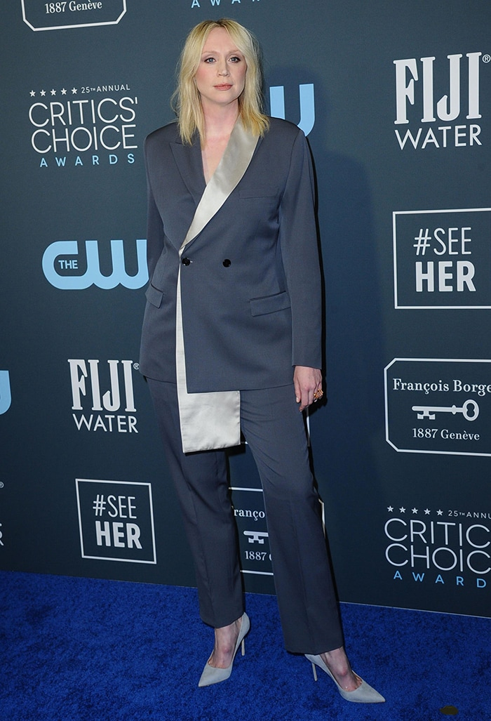Gwendoline Christie at the 25th AnnualCritics' Choice Awards held at Santa Monica's Barker Hangar on January 12, 2020