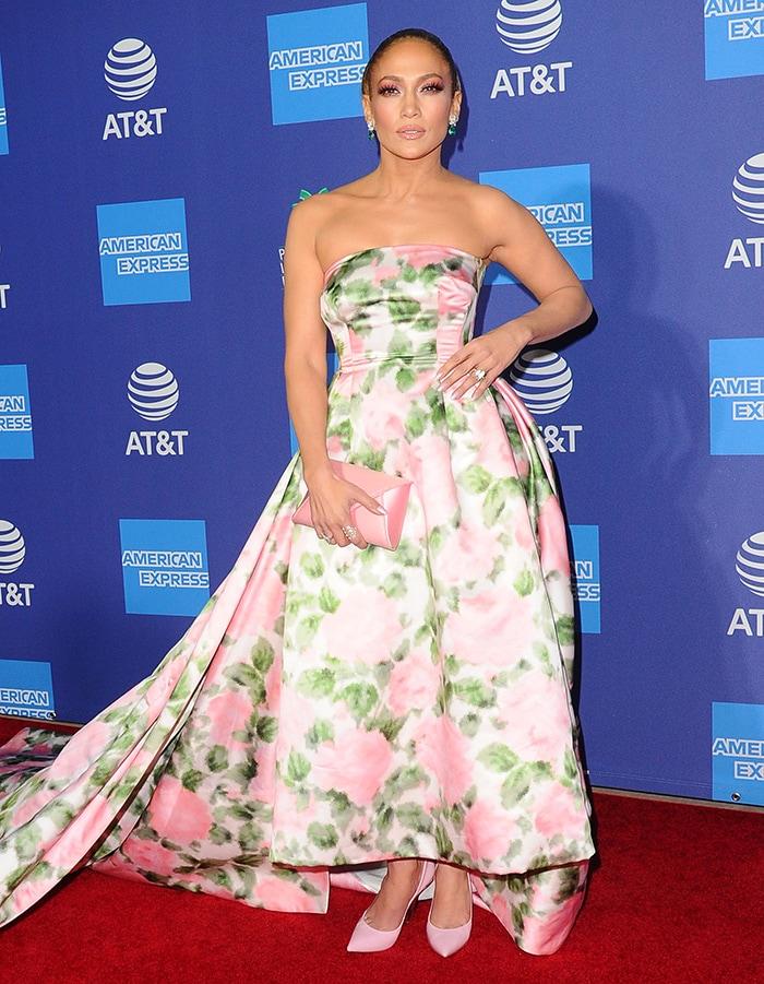Jennifer Lopez receives the Spotlight Award at the 2019 Palm Springs International Film Festival held at the Palm Springs Convention Center in California on January 2, 2020