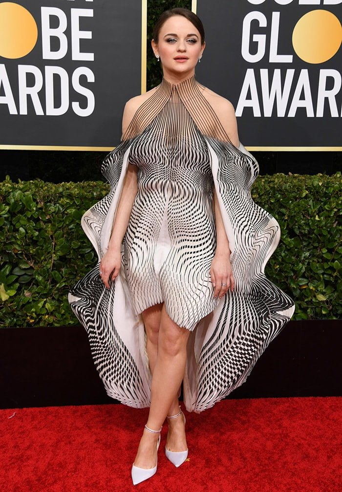 Joey King catches attention in Iris van Herpen optical illusion dress at the 77th Annual Golden Globe Awards on January 5, 2020