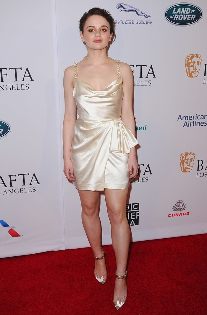 Joey King slips her curves into a Markarian plunging mini dress