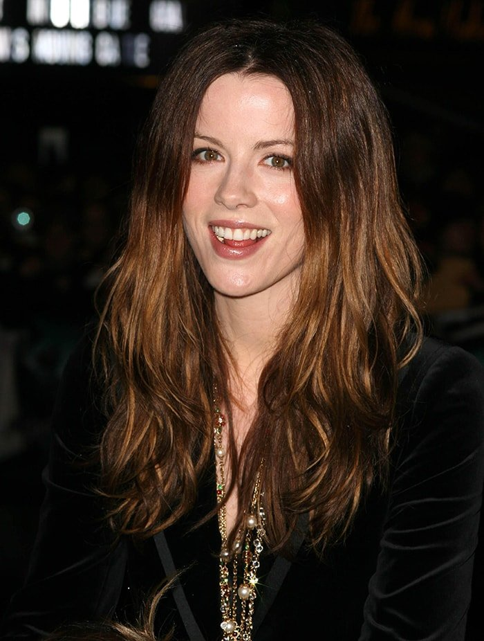 Kate Beckinsale at theHarry Potter And The Goblet of Fire world premiere in London on November 6, 2005