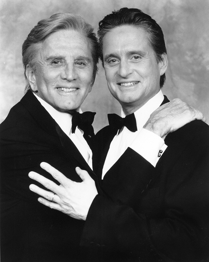 Kirk Douglas and Michael Douglas on American Film Institute (AFI) Salute to Kirk Douglas (CBS) Aired on April 23, 1991